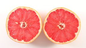 Red grapefruit. On white background Royalty Free Stock Image