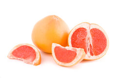 Red grapefruits parts Royalty Free Stock Photo