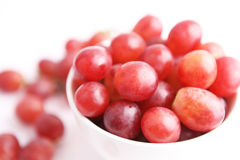 Red grapes. On white background Stock Images