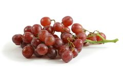 Red Grapes. On white background Royalty Free Stock Photography