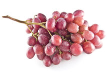 Red grapes. Fresh red grapes isolated on white background Stock Photos