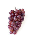 Red grapes. Fresh red grapes, clipping path, white background Stock Photography