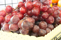 Red grapes background Stock Image