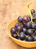 Red Grapes Basket Stock Photos