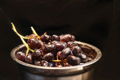 Red Grapes in Bowl Stock Photography