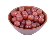 Red grapes in a bowl Royalty Free Stock Images