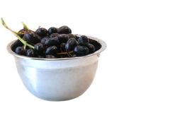 Red Grapes in Bowl, Isolated Royalty Free Stock Photos