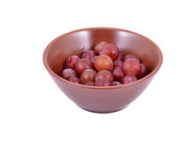 Red Grapes in a bowl Stock Image