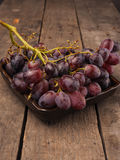 Red grapes in a bowl Stock Images