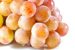 Red Grapes Bunch. In White Background Royalty Free Stock Image