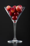 Red grapes in a glass Stock Photos