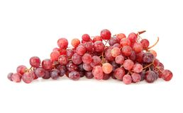 Red grapes, isolated. Royalty Free Stock Photos