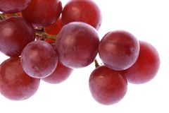 Red Grapes Isolated Stock Photos
