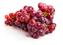 Red grapes. Isolated on white Stock Image