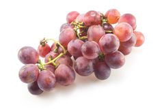 Red grapes Isolated. On white background Stock Photo