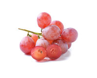 Red grapes isolated on white Royalty Free Stock Photo