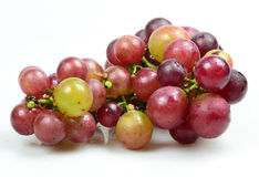 Red Grapes isolated on white background. Fresh grape fuits isolated on white background Stock Images