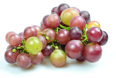 Red Grapes isolated on white background. Fresh grape fuits isolated on white background Royalty Free Stock Image