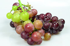 Red Grapes isolated on white background. Fresh grape fuits isolated on white background Stock Photos
