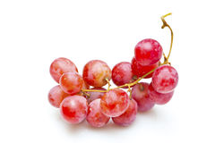 Red grapes isolated on white Stock Images