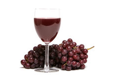 Red grapes and red wine Royalty Free Stock Photography