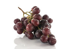 Red grapes  on white Stock Photo