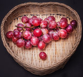Red grapes. With white background Stock Image