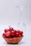 Red grapes. With white background Stock Photography
