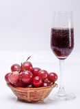 Red grapes. With white background Royalty Free Stock Photo