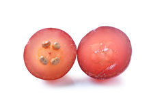 Red grapes  on white Royalty Free Stock Images