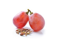 Red grapes  on white Royalty Free Stock Photo