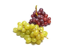 Red grapes and white graoes Royalty Free Stock Image