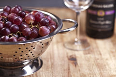 Red Grapes & Wine Stock Images