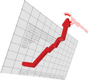 Red Graph Arrow Move Up Vector Stock Photo