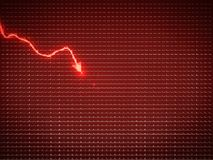 Red graph as economy recession or financial crisis. Business pattern Stock Image