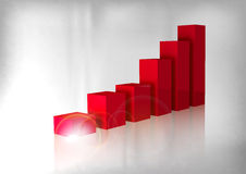 Red Graph Royalty Free Stock Photography