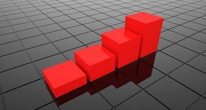 Red graph Stock Photos