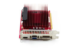 Red Graphic Card without Fan Royalty Free Stock Image