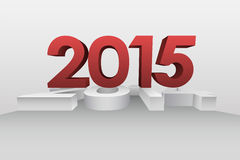 Red 2015 graphic on white background. Digitally generated Red 2015 graphic on white background Stock Photos