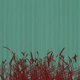 Red grass on blue ribbed background Royalty Free Stock Image
