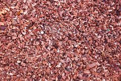 Red gravel stone floor texture background.  royalty free stock photography