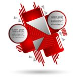 Red and gray abstract art background with geometric elements vector illustration