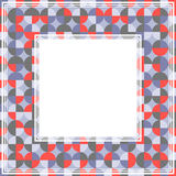 Red gray abstract border Stock Photo