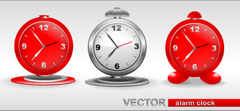 Red, gray  Alarm Clocks Royalty Free Stock Images