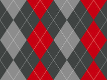 Red gray argyle fabric texture seamless pattern Royalty Free Stock Photography