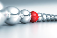 Red and gray balls Royalty Free Stock Images