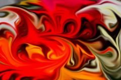 Fluid red black orange yellow dark colorful background, waves like shapes. Red gray black orange yellow dark soft colorful fluid waves like shapes, fluid forms Stock Images