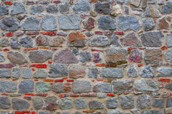 Red and gray brick wall Stock Images