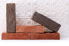 Red and gray bricks Stock Image