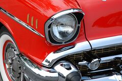 Red and Gray Classic Car stock photography